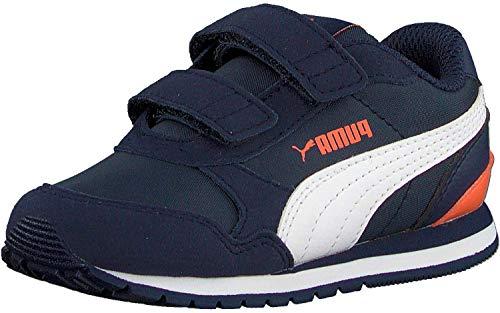 PUMA St Runner V2 Nl V Ps Sneaker, Blau (Peacoat White-Firecracker), 32 EU