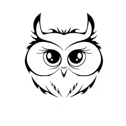 WBXZY Car sticker 15X15.8CM cute owl head vinyl car sticker motorcycle decal black car styling car decal