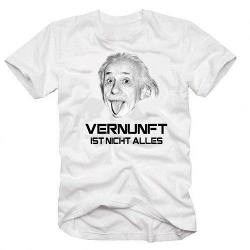 EINSTEIN - Vernunft ist nicht alles ! T-Shirt weiss, XL
