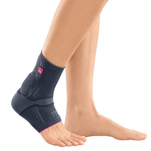 medi Achimed - Achillessehnenbandage unisex | silber | Größe II | Bandage zur Entlastung der Achillessehne | Beidseitig tragbar