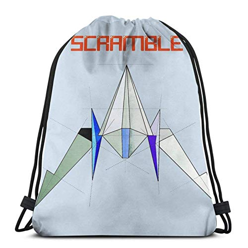 WH-CLA Mochila con Cordón Starfox Ar-Wing Ship - Scramble Men Anime Print Durable Drawstring Bags Unique...