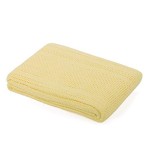 Dudu N Girlie® - Manta de bebé de 100% algodón Puro - Extra Suave para Cochecito de Viaje, Cuna de moisés, 70 x 90 cm, Color Morado
