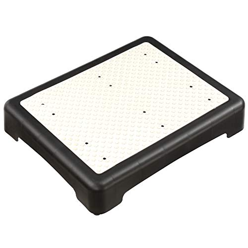 4 Inch Indoor Outdoor Step Stool, Portable Step Riser for Elderly & Disabled, Antislip Half Step Platform for Stairs, Cars, Bed, Chair, Shower – Lightweight Mobility Safety Tread for Up to 450 lbs