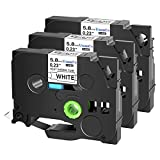SuperInk 3 Pack Compatible for Brother HSe-211 HSe211 HS-211 HS211 Black on White Heat Shrink Tube Label Tape use in PT-D400 PT-D450 PT-E300 PT-E500 PT-P750WVP Printer (0.23''x 4.92ft, 5.8mm x 1.5m)