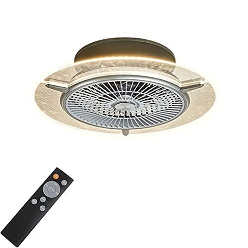Ventilador De Techo con Iluminación LED Ventilador De Luz De Techo Invisible 3 Velocidad con Control Remoto Dimmable Iluminación Dormitorio Restaurante 48W Fan LecheLier