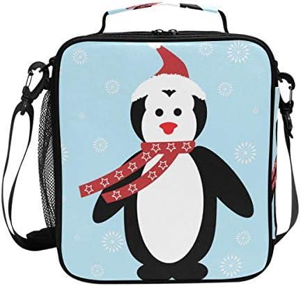 MONTOJ Kerst Pingun Thermische Koeler Lunch Bag Waterdichte Ice Pack