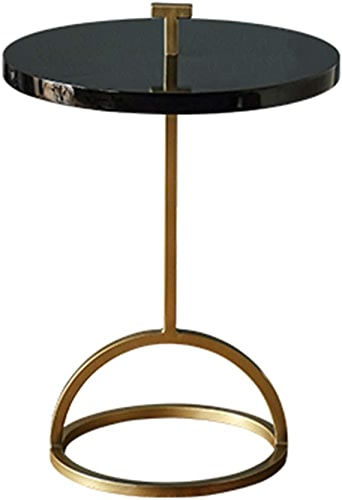 NAN Côté Rond - Portable Moderne Rond Côté canapé Coin mobilier créatif Fer forgé - 40  51cm (Couleur   Noir)