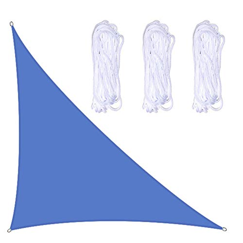 Toldos Exterior Triangle Sun Shade Sail Beach Tabla Cubierta UV Bloqueo Shade Sparar Impermeable(Size:4×4×5.7 m/13×13×18.7 ft,Color:A04)