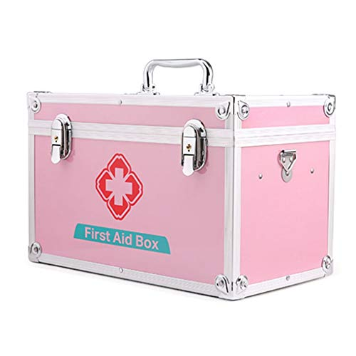 Leileixiao Kit de Primeros Auxilios con Cerradura Caja de Almacenamiento Médico, Emergencia de la Supervivencia Kit de Bolsa (Size : 12inch)