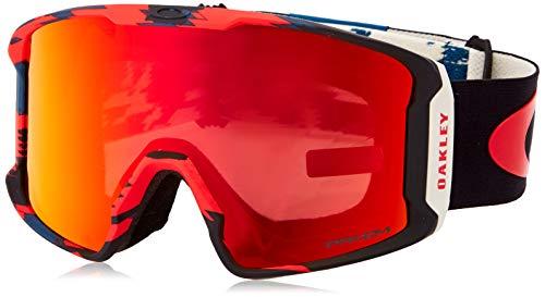 Oakley Unisex-Adult Line Miner Sunglasses, Mehrfarbig (Carlson sig Razor camo red blu/prizm Snow Torch Iridium, Einheitsgröße