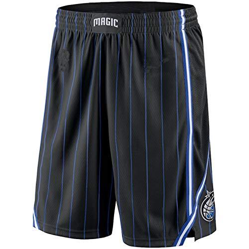 MZYW deportes pantalones cortos hombres Orlando Negro, Magic 2019/20 Icono Edición Swingman Baloncesto cortos para hombres