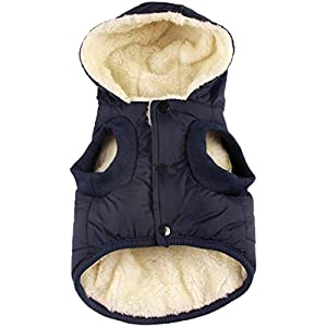 RC GearPro Dog Clothes Winter Cotton-Padded Jacket Hoodies Cat Puppy Cold Weather Coats Vest for Small Medium Large Dog