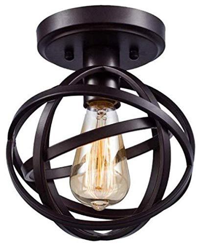 Meixian Wandlamp E27 Industriële plafond Forum plafond zwart kogelvormige lamp plafond keukeneiland gang retro smeedijzeren lamp plafond slaapkamer kroonluchter eenvoudig retro