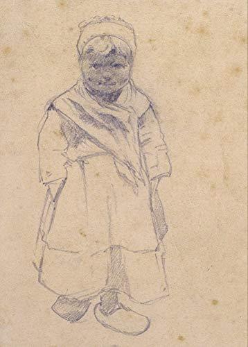 Santiago Rusinol–Zuecos de Niña con de 1883, español catalán. Modernismo 250gsm brillante Art Tarjeta A3reproducción de póster