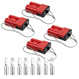 HYCLAT Red 2-4 Gauge 175 A Battery Quick Connect/Disconnect Wire Harness Plug Connector Re...