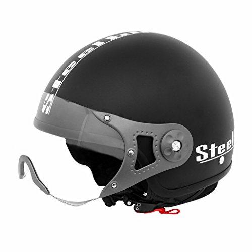 Steelbird SB-27 Style Mat Black with plain visor,600 mm