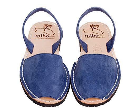 Authentic Avarca Menorquina Sandals Basic Nobuck, Blu (Nobuck Azulon.), 42 EU