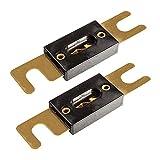 tomzz Audio 5800-018 ANL Sicherung 60A vergoldete Kontakte 2 Stück für KFZ Car HiFi Auto Endstufen Sicherungshalter -