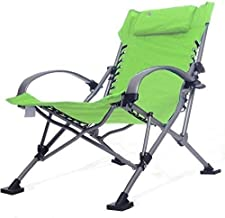 High-quality recliner Reclinable Armchairs, Armchairs, Olding Chairs Recliner Garden Deck Chair Gravity Zero Dimensions: 60 * 80 * 55 Cm (Color : Green, Size : 60 * 80 * 55cm)