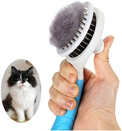 Cat Grooming Brush Self Cleaning Slicker Brushes for Dogs Cats Pet Grooming Brush Tool Gently product image