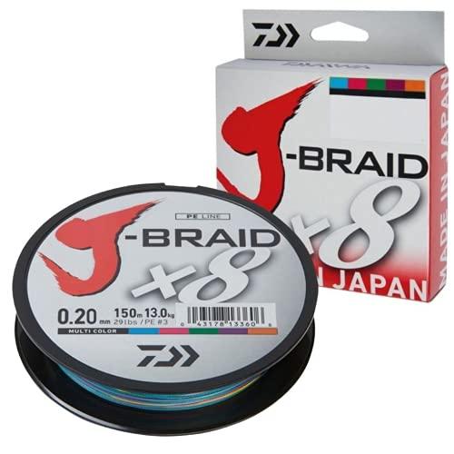 Tresse Daiwa J Braid 8 brins 150 m Multicolore 18/100