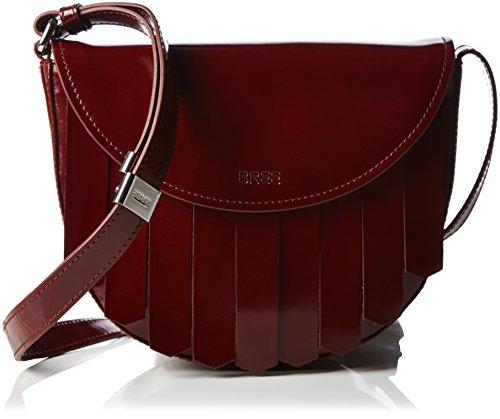 BREE Damen Brigitte 26 Umhängetaschen, Rot (Brick red 160), 24x20x7 cm