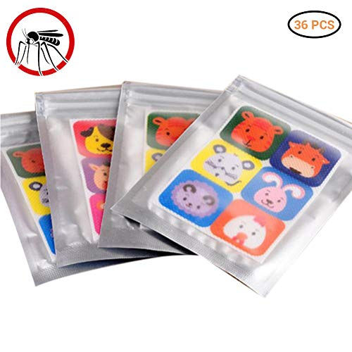 36 Stks muggenwerende patches Stickers 100% natuurlijke niet-giftige pure etherische olie Cartoon anti-muggenwerende patch Sticker voor kinderen peuter