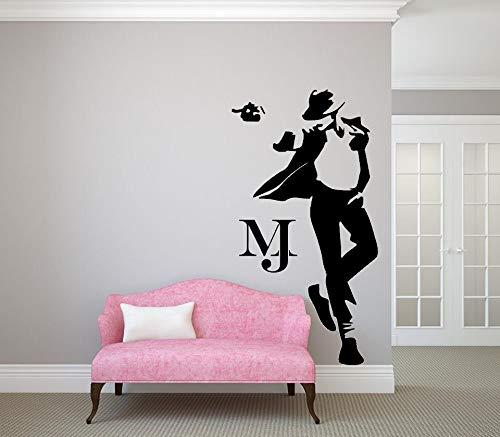 Tanzen Michael Jackson Wandaufkleber Wand Dekoration Kunst-Wandgemälde Musik DIY Zuhause Dekor Kunst