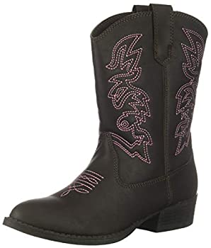 Deer Stags Unisex-Kid s Ranch Pull On Western Cowboy Fashion Comfort Boot Dark Brown 11 Medium US Little Kid