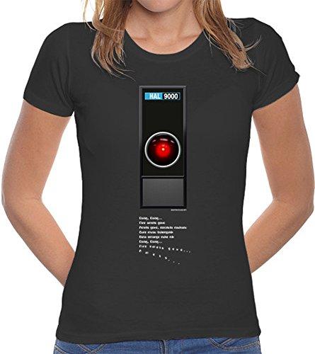 latostadora Camiseta HAL 9000 - Camiseta Mujer Corte clásico Gris Oscuro Talla XXL