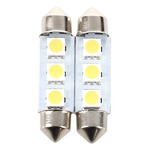 WOVELOT 2 x Glühbirnen für Festhoon, 3 LEDs, 39 mm, Canbus Weiß