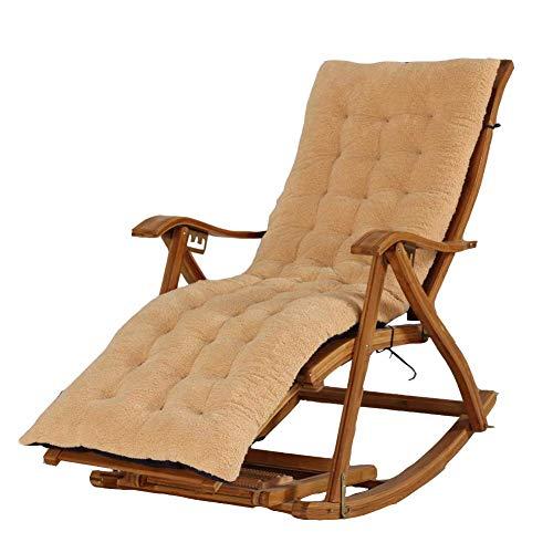 HFTD Cojín para Tumbona con Correa, Funda reclinable de Repuesto para Interior y Exterior, colchoneta Lavable para Columpio de jardín, cojín portátil de Viaje para Silla de Madera