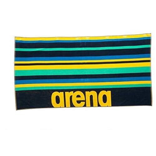Arena Beach Multistripes, Telo di Cotone Unisex Adulto, Blu (Navy/Multi), Taglia Unica