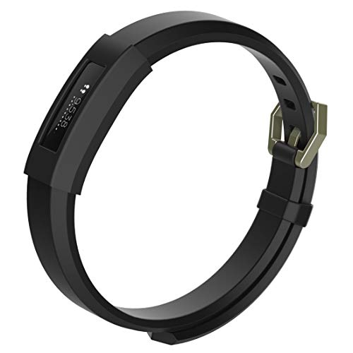 DaMaiFeng Lin-L Dispositivo portátil Inteligente, Funda Protectora del Reloj del silicón del Color sólido for Fitbit Alta/HR (Negro) Funda Protectora (Color : Black)