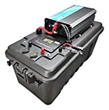 High Output Solar Generator, (2200W to 5000W Available) ,Portable Solar Battery Box w Inverter, USB, 12V Inputs/Outputs Inverter Size: 5000W
