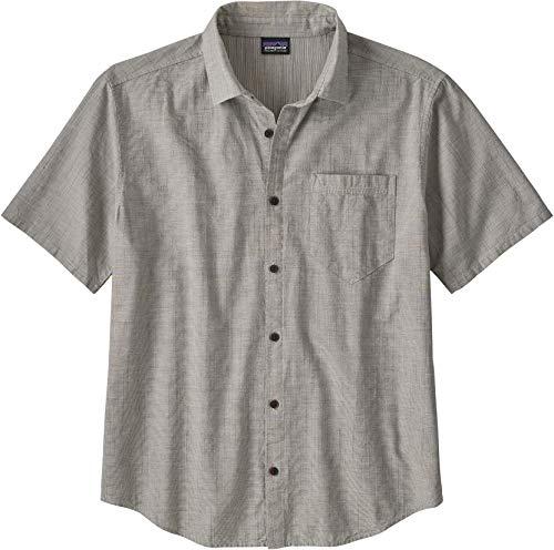 Patagonia M's Organic Cotton Slub Poplin Shirt Haut Homme, Gris (End on End : Forge Grey), M