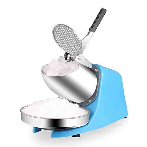 Ice Crusher, Smoothies Elektrische ijsmachine, 85 kg/h, geschikt voor snackbars zomertijd blue geel