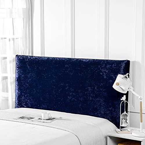 MLHK Funda para cabecero de Cama de protección para cabecero de Cama elástica de Color Liso para Dormitorio Funda De Cabecera De Cama Cubierta De Cabecero Franela,Blue-120CM