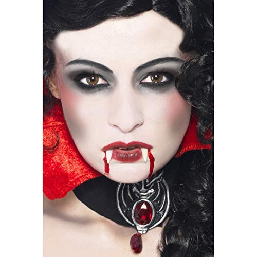 NET TOYS 4-TLG. Make-up-Set Vampir | Weiß-Rot-Schwarz | Vielseitiges Unisex-Zubehör Schminke...