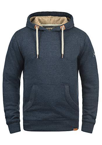 !Solid TripHood Pile Herren Kapuzenpullover Hoodie Sweatshirt Mit Teddyfutter Meliert, Größe:XL, Farbe:INS BLU M (P8991)