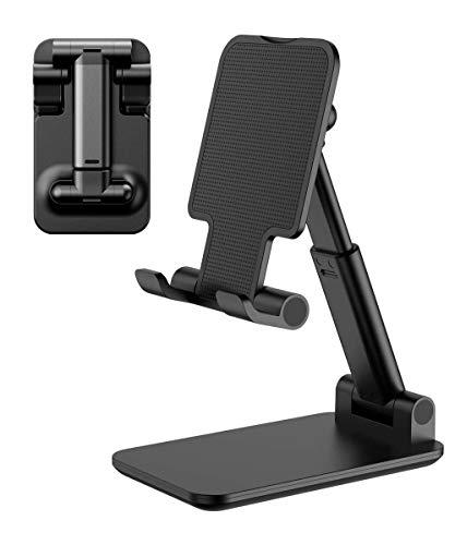 Handy Ständer Faltbar Handy Halterung Tisch, Verstellbarer Multiwinkel rutschfest Handyhalterung Tablet Ständer Handyständer für iPhone, Samsung, iPad, Tablet Andere Smartphones