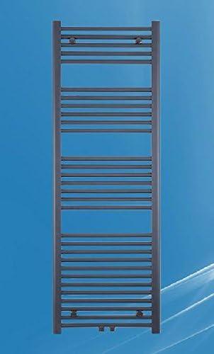 Badheizk/örper anthrazit gerade mit Mittenanschluss Handtuchheizk/örper verschiedene Gr/ö/ßen 400 mm x 1200 mm