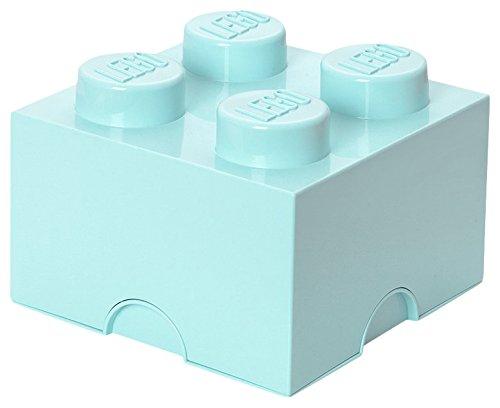 LEGO Aufbewahrungsstein, 4 Noppen, Stapelbare Aufbewahrungsbox, 5,7 l, mintgrün