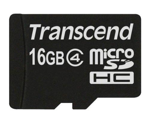 Transcend TS16GUSDC4 Scheda di Memoria MicroSDHC da 16 GB senza Adattatore, Classe 4