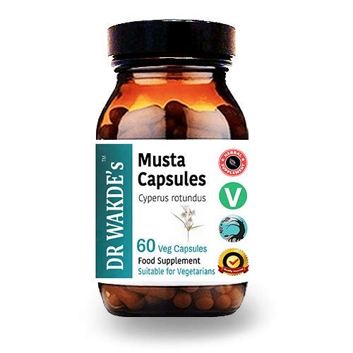 DR WAKDE'S Musta Kapseln (Cyperus rotundus, 60 Veg Caps, Ayurveda-Ergänzung, Vegan, Kräuter, Natürlich)