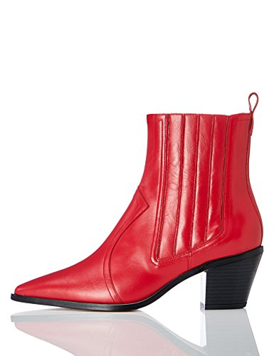 find. Damen Cowboy-Stil Stiefeletten, Rot (Red 007), 38 EU