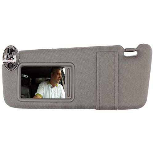 SAILEAD Sun Visor Compatible with 2007 2008 2009 2010 2011 Toyota Camry and Camry Hybrid with Sunroof and Light (Gray, Left Driver Side)