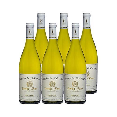 Pouilly-Fumé Blanc 2019 - Domaine de Maltaverne - Vin AOC Blanc du Val de Loire - Lot de 6x75cl - Cépage Sauvignon Blanc
