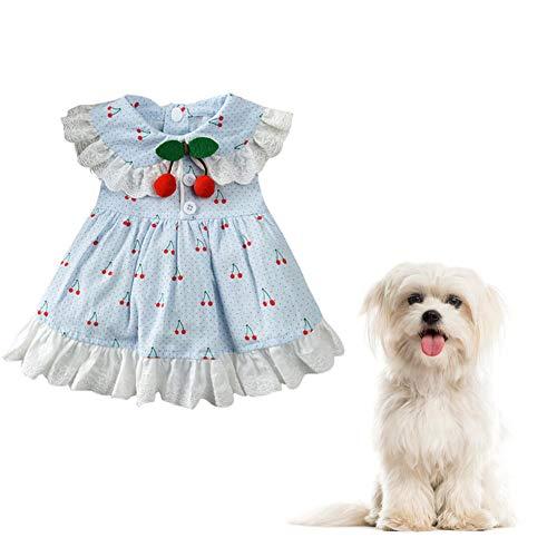 ppactvo hundekleid Katzenkleid Süßes Welpenhochzeitskleid Brautkleider für Hund Prinzessin Hundekleid Hundekleid für große Hunde Hundekleid für den Sommer Blue,L