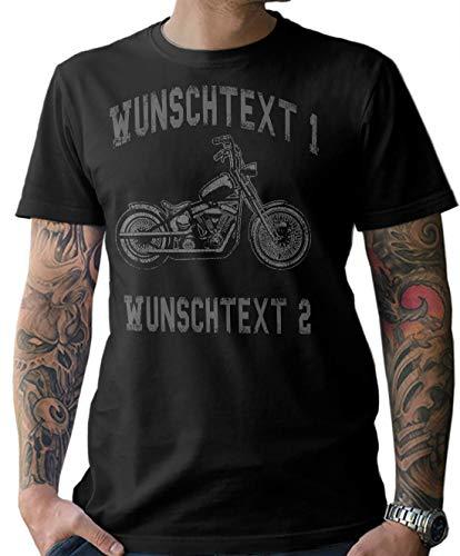 NG articlezz Hombre Dardos Motocicleta Moto Camiseta – Personalizable con Texto Deseado S-XXXXXL